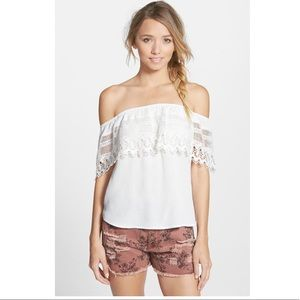 Socialite Crochet off the shoulder Top